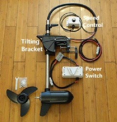 Electric Thruster Trolling Motor with Speed Controller & Bracket for Kayak DIY